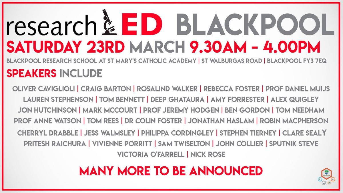 researchED Blackpool 2019