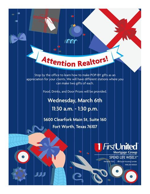 Realtor Business Development Pop By Class At First United Mortgage