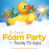 A Level results FOAM party