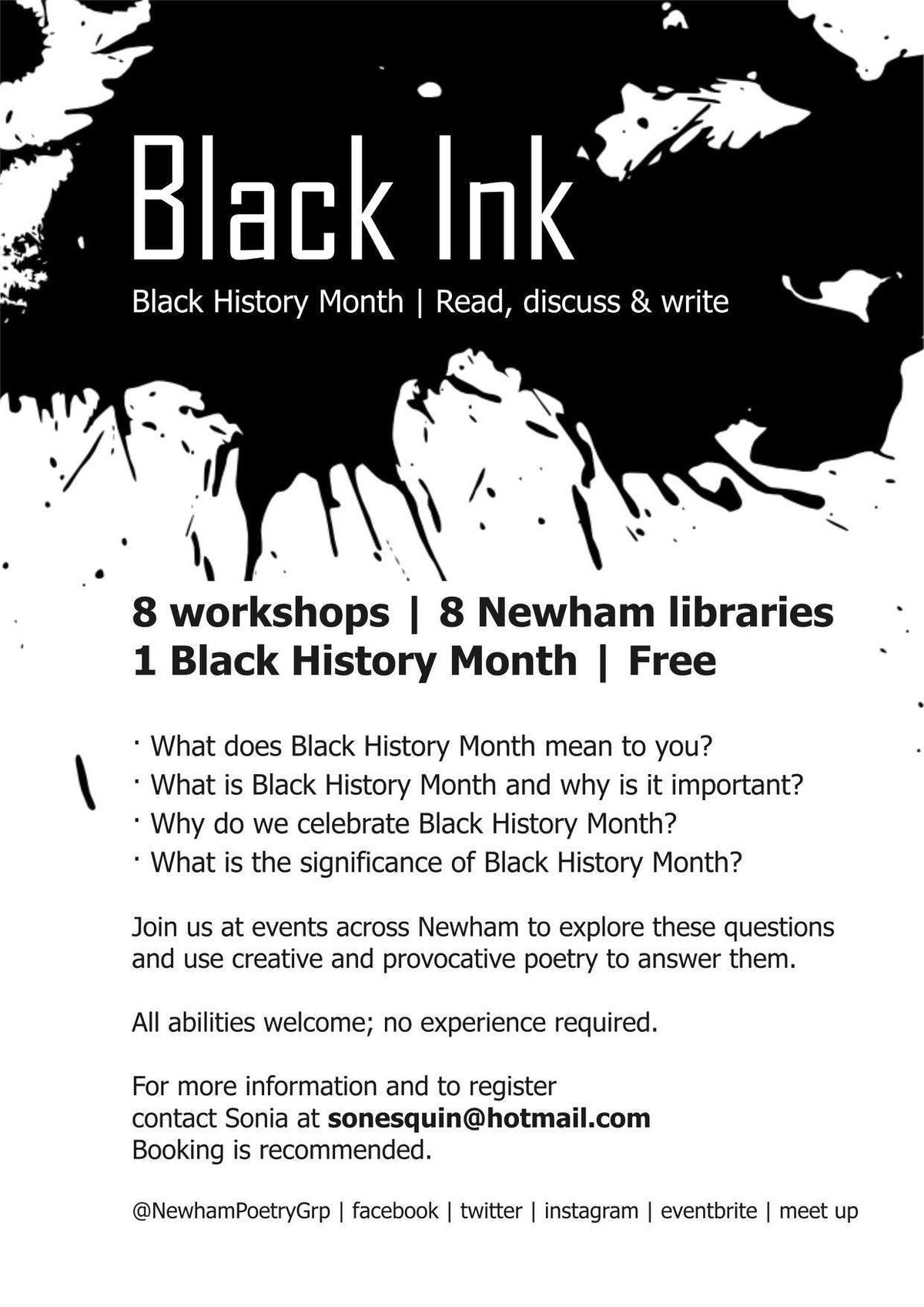 Black Ink - Celebration of Black History Month
