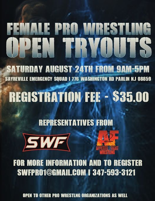 Swf/a2f Female pro wrestling tryouts at Sayreville Emergency