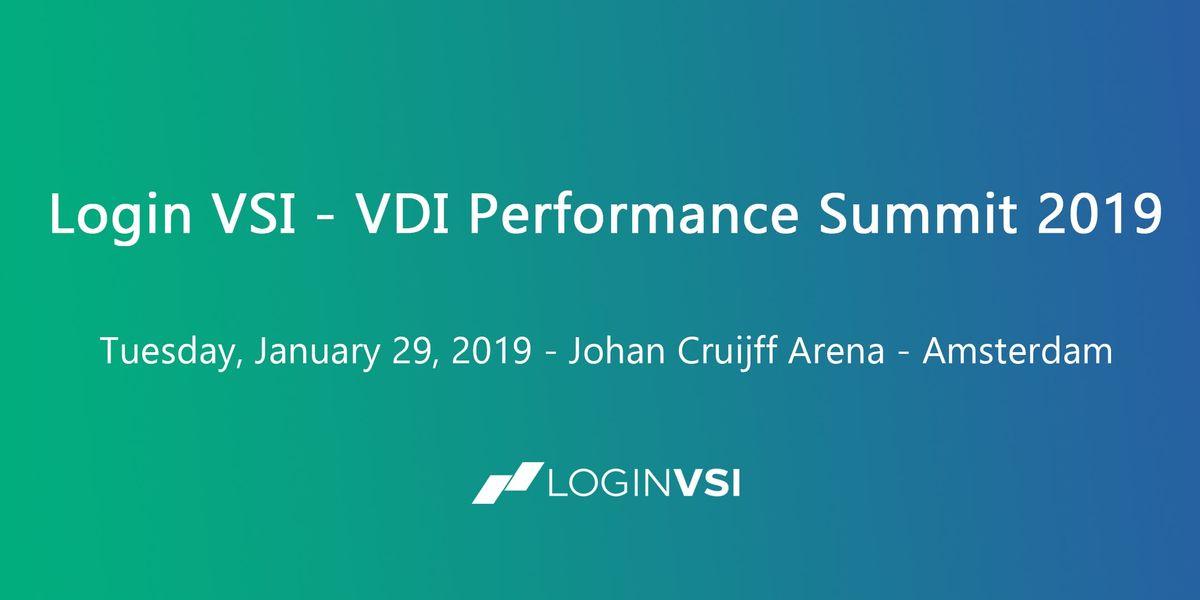 VDI Performance Summit