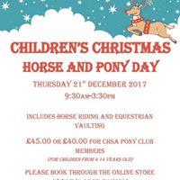 Childrens Christmas Horse &amp Pony Day