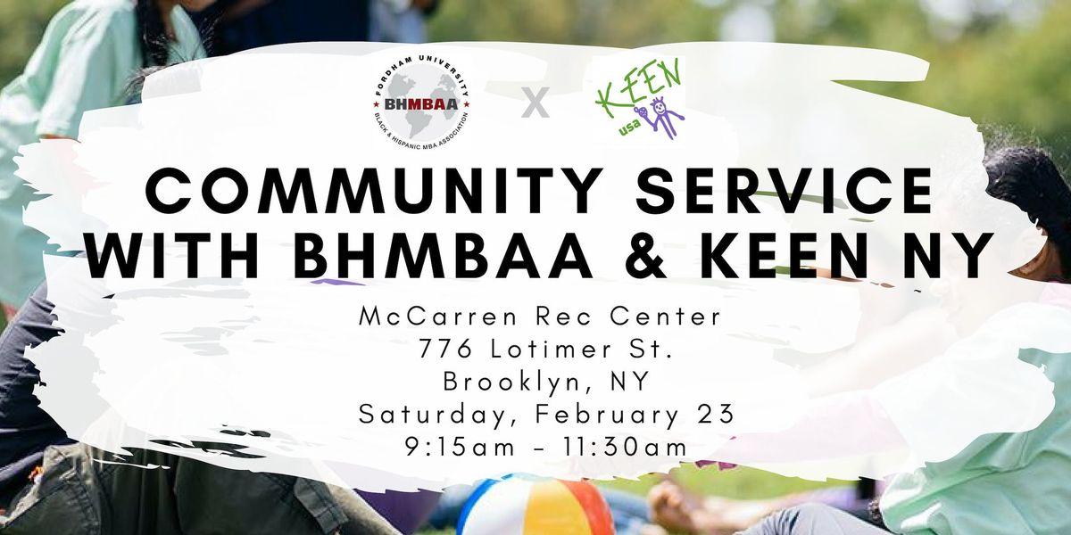 Community Service with BHMBAA & KEEN NY Basketball