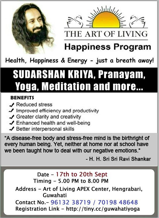 Happiness Program (In most demand now in Guwahati)