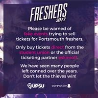 Portsmouth University Freshers 2018-2019