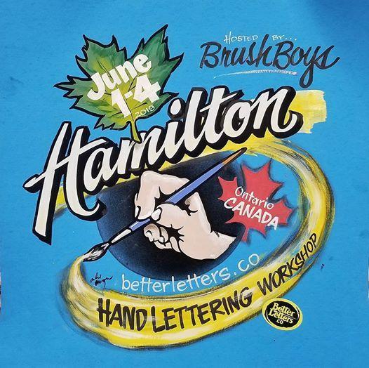 Hamilton: Mike Meyer Hand Lettering Workshop at Scott J