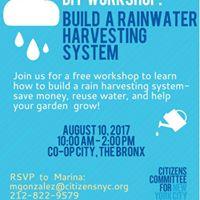 DIY Workshop Build a Rainwater Harvesting System
