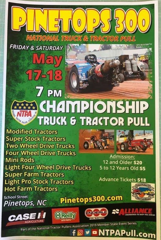 Pinetops 300 TRUCK AND TRACTOR PULL at Pinetops Tractor Pull