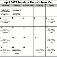 April 2017 Events at Floreys Book Co.