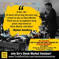 How To Make Millions Through The Stock Market Seminar