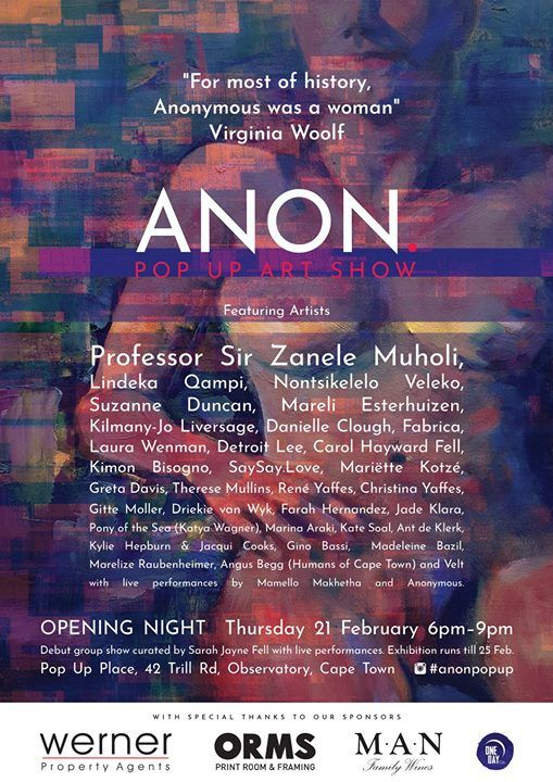 ANON. Pop Up Art Show