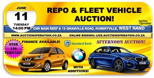 Repo Car Auctions >> Bmw Finance Standard Bank Repo Fleet Vehicle Auction In