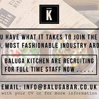 Baluga Recruitment (Bar Staff and Commis Chef)