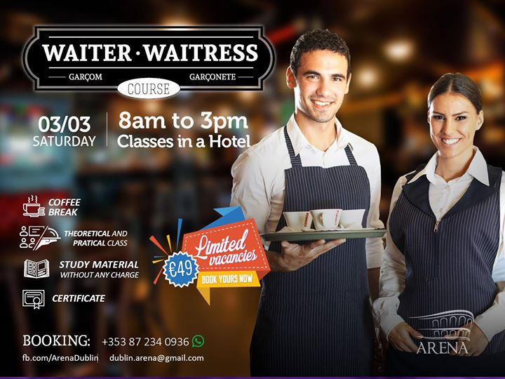 Curso WaiterWaitress Sabado dia 03.03.18