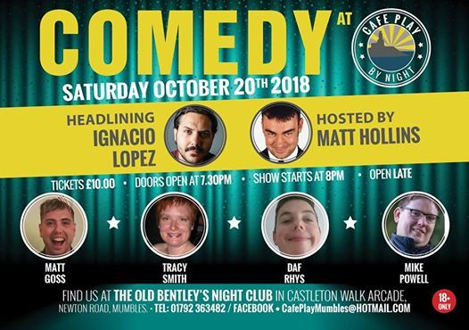Comedy at Cafe Play by Night