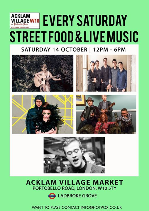 Live Music with HOT VOX at Acklam Village Market - Sat 14th