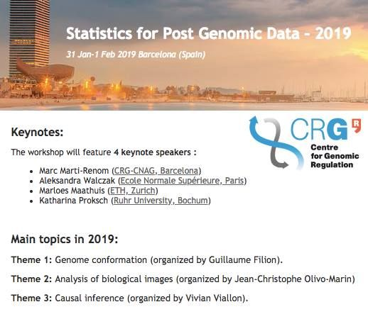 2019 Annual workshop on statistical methods for post genomic dat