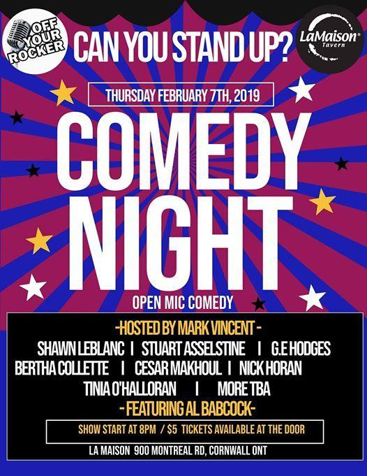 February Open mic Comedy