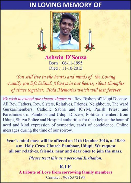 1st Death Anniversary