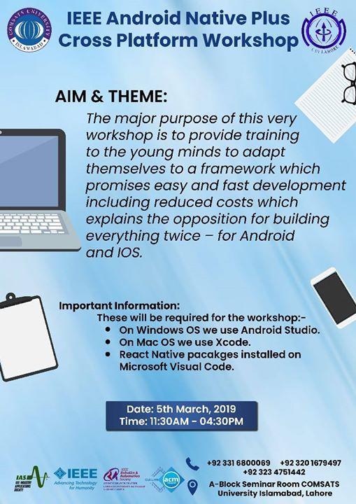 IEEE Android Native Plus Cross Platform Workshop