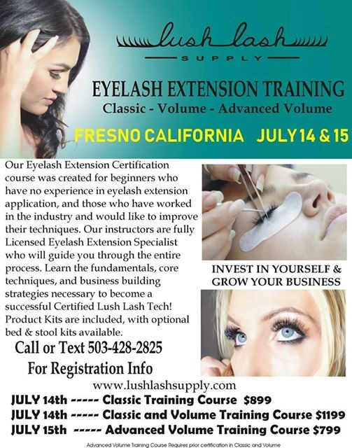 Eyelash Extension Training And Certification W Lush Lash Supply At