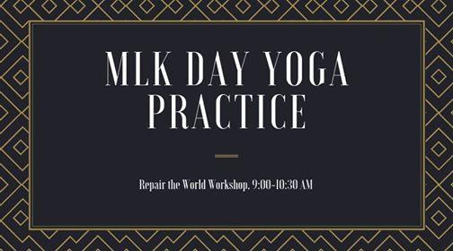 MLK Day Antiracist Yoga Practice