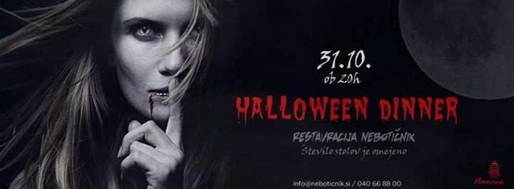 Halloween dinner  31.10.  Restavracija Nebotinik