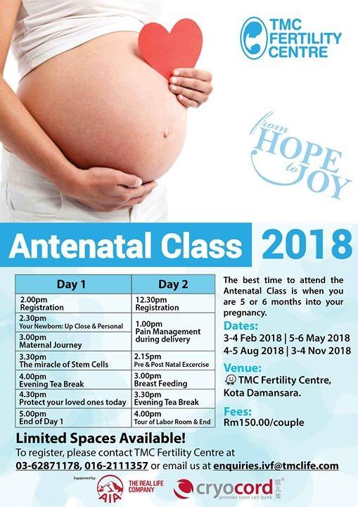 Antenatal Class 2018 by TMC Fertility Centre