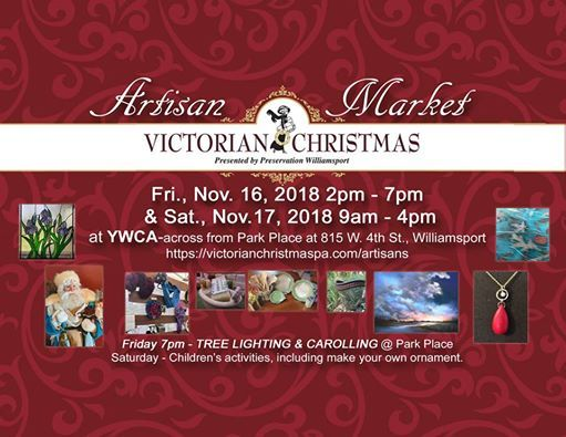 Artisan Market of Victorian Christmas in Williamsport