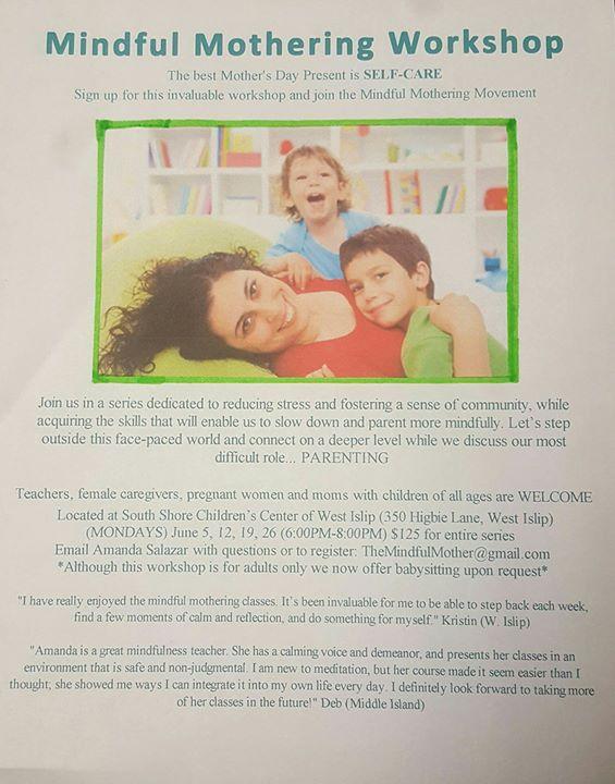 Mindful Mothering Workshop