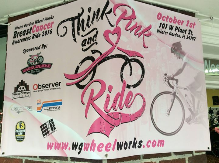 2017 Think Pink Breast Cancer Ride At Winter Garden