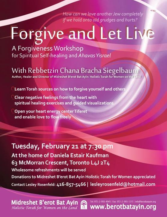 Forgive and Let Live – A Forgiveness Workshop for Spiritual Heal