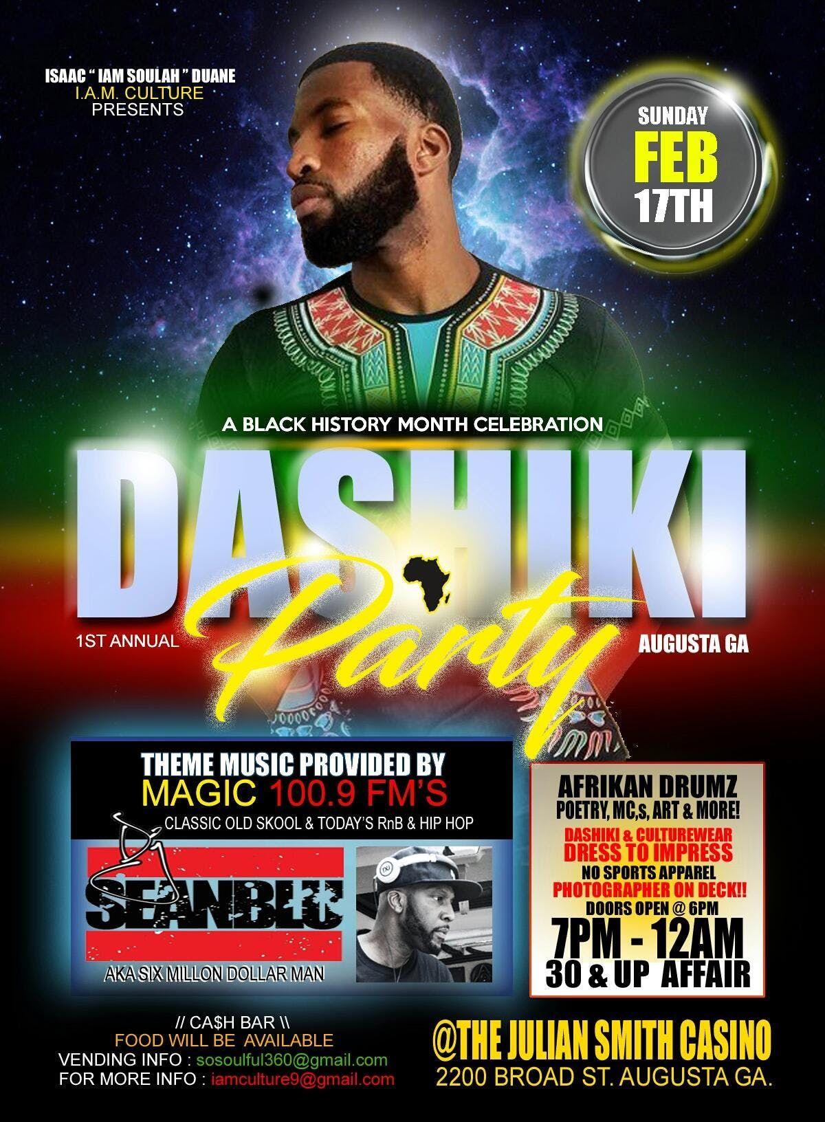 1st Annual Dashiki Party - Augusta GA.