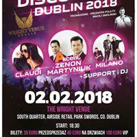 Akcent(Zenon Martyniuk)ClaudiMilano-Gala Disco Polo Dublin 2018