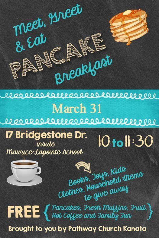 Meet Greet and Eat Pancake Breakfast