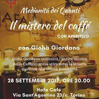 Torino - Medianit dei Quanti il mistero del Caff