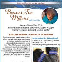 Beaver Fur Mittens  Cultural Traditions Workshop