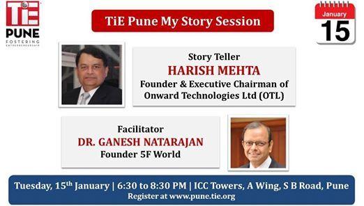TiE My Story Session Harish Mehta of Onward Technologies Ltd