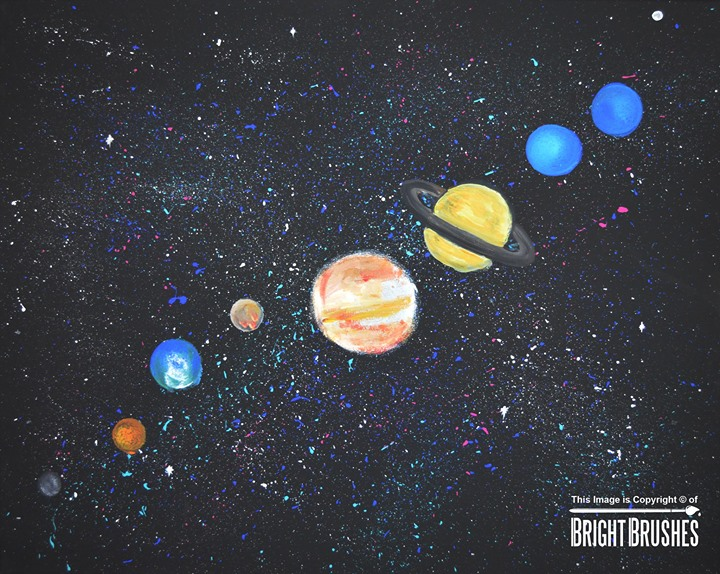 solar system wall painting pinterest - photo #26
