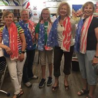 Salute to the Flag Patriotic Silk Scarf