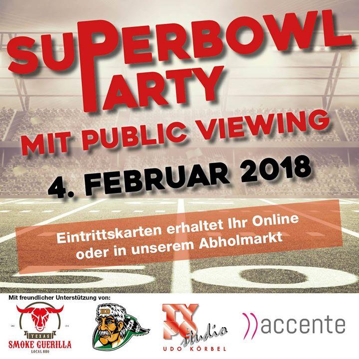 Super Bowl 52 Public Viewing at Getränke Fachhandel und Zeltverleih ...