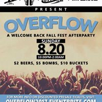 Overflow - A Welcome Back to School Fall Fest Afterparty