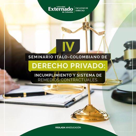 IV Seminario talo-Colombiano de Derecho Privado