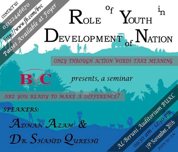 Role of Youth in Nation Development! at Al-Beruni Auditorium