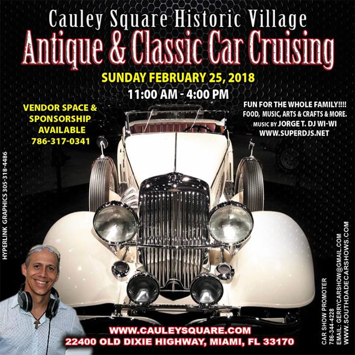 Cauley Square Antique Classic Car Show At Cauley Square Miami - Car show miami today