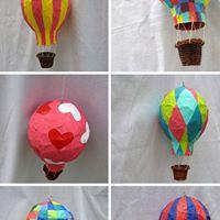 Luchtballon van Papier Mache