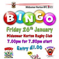 Bingo - fundraising for MNRFC U15s Tour