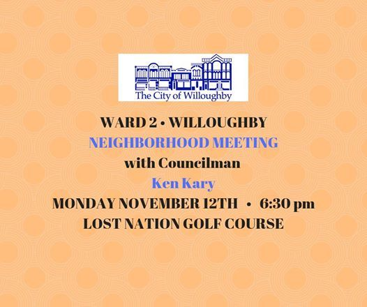 Ward 2 Neighborhood Meeting At Lost Nation Municipal Golf Course Ohio
