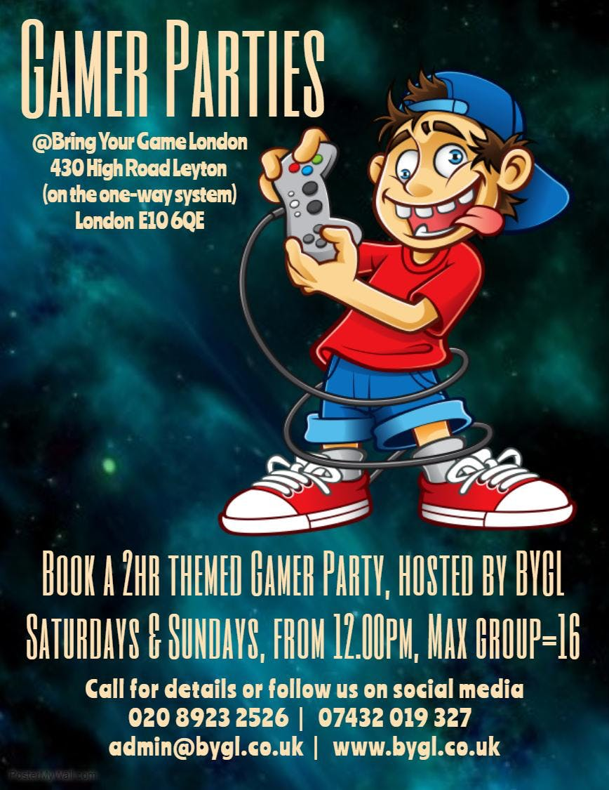 BYGL Weekend Gamer Party Group Ticket (16max)